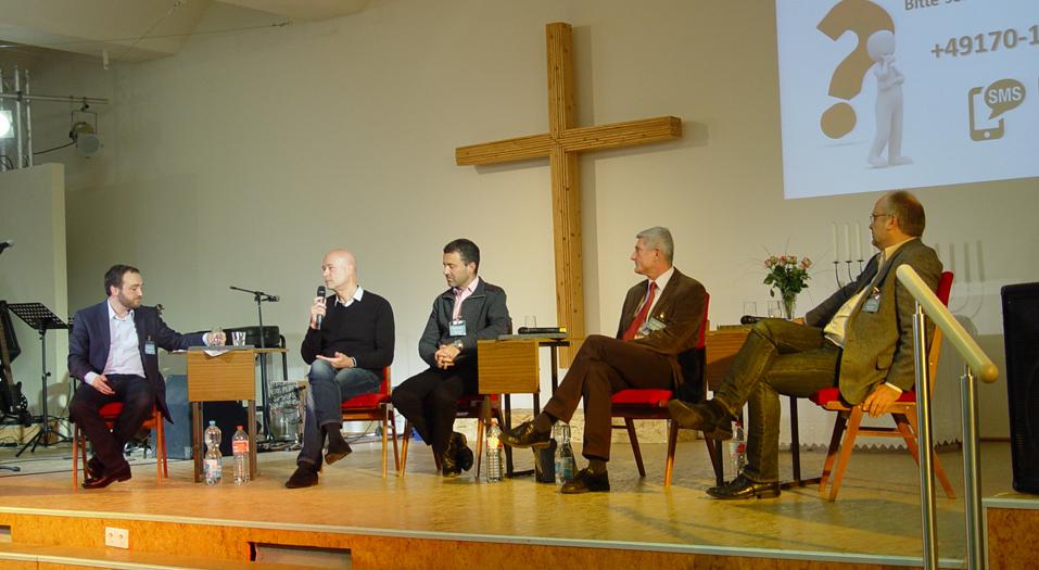 Podium K-H Schmidt am Mikro Israelkonferenz