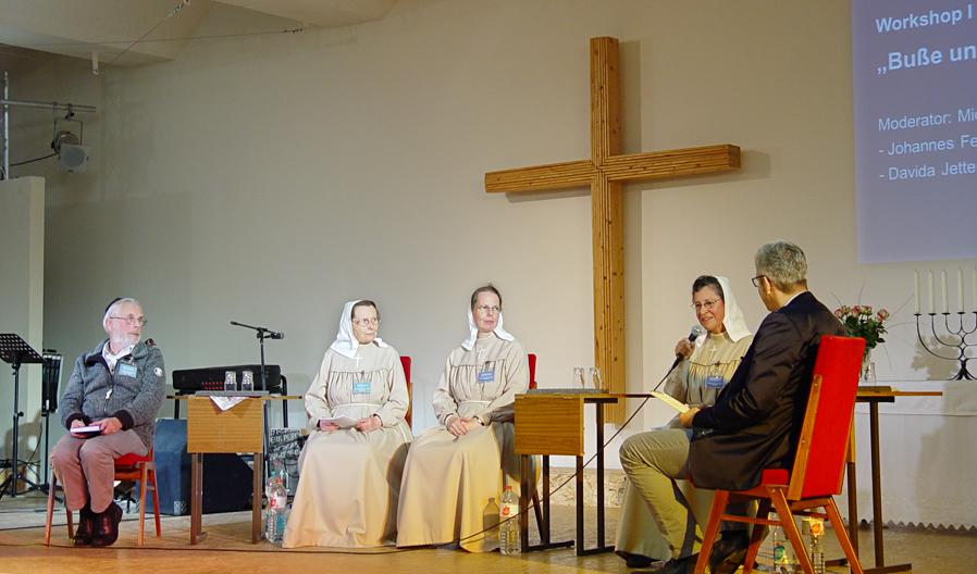 Marienschwester Podium Israelkonferenz