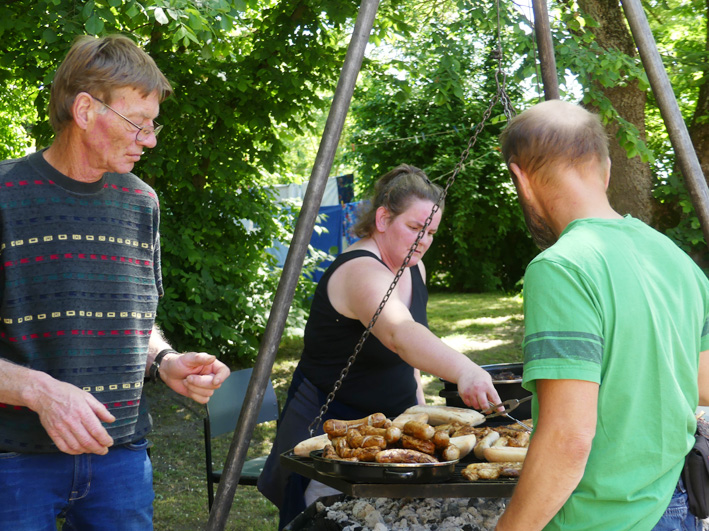 Grill-Team am Familientag