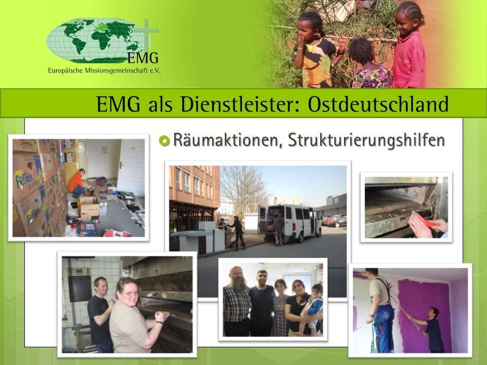 EMG als Dienstleister