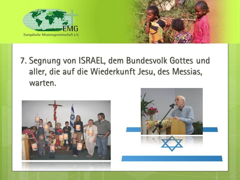 Segnung von Israel