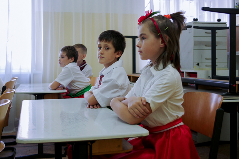 Schulkinder - verteilt