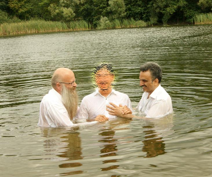 Frank Seidler und Arash bei der Taufe 4