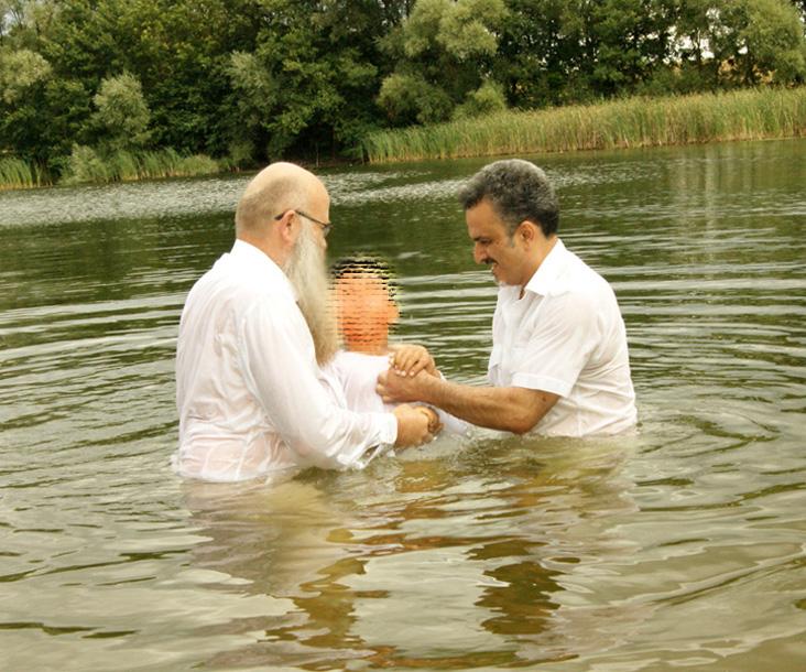 Frank Seidler und Arash bei der Taufe 3