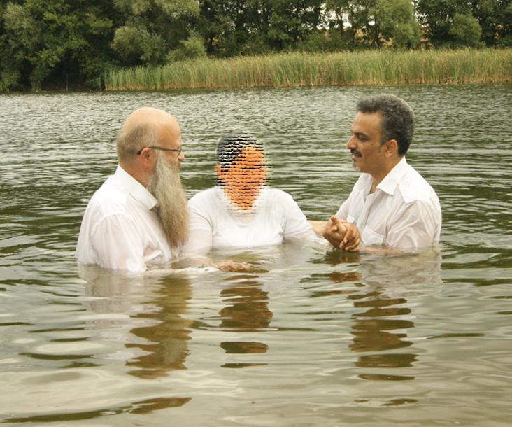 Frank Seidler und Arash bei der Taufe 2