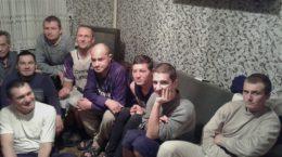 Gruppe der Bewohner des Rehabilitationszentrum