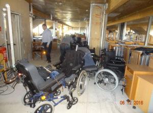 Rollstühle im Lager
