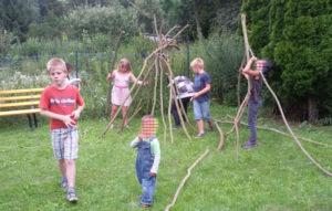 Wir bauen eine Hütte-Kinderfreizeit