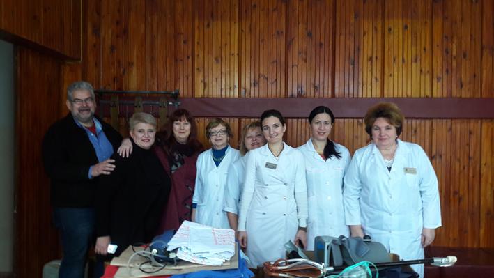 Gemeinsam mit Chefärzten Alexandrovka