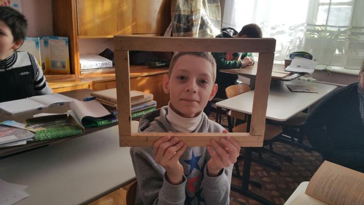Holzarbeit in der Sonderschule - Cherson