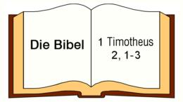 1. Timoth 2, 1-3