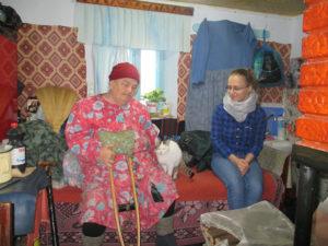 Hausbesuch Maria in Wohnung- Moldawien