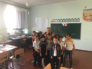 Kinder in der Schule, real
