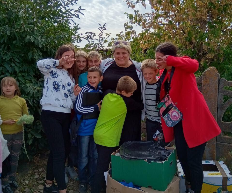 fröhliche Kinder und Olga, real